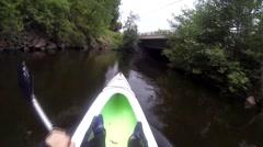 Kayaking GoPro Point of View Shot Stock Footage