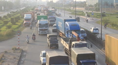 traffic congestion by accidents - stock footage