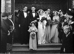 Gaymour-Ackerman wedding at Penshurst, Sydney, 1936 / Sam Hood Free Stock Photos