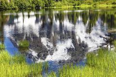 Picture lake abstract mount shuksan washington usa Stock Photos