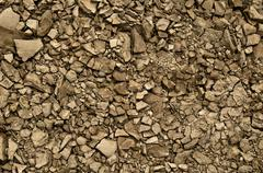 a bunch of crumbled old rocks make a grunge texture - stock photo