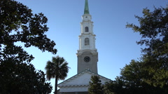 Independent presbyterian church, savannah, ga, usa Stock Footage