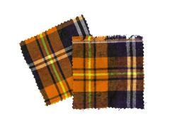 Stock Photo of scottish checked fabric