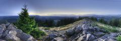 An hdr panorama taken on top of a mountain. mount pisgah, eugene, oregon, uni Stock Photos