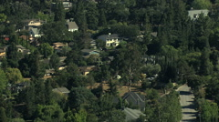 Aerial USA California county commuter residential rural town - stock footage