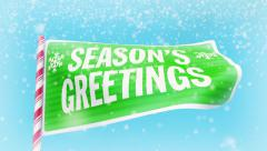 Christmas and New Year Season's Greetings Stock Footage