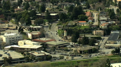 Aerial USA California Santa Cruz commuter Freeway transport Stock Footage