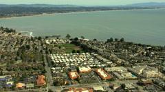 Stock Video Footage of Aerial Pier Santa Cruz Promenade amusements Pier
