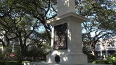 Monument, johnson square savannah, ga, usa Stock Footage