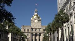 City hall building, savannah, ga, usa Stock Footage