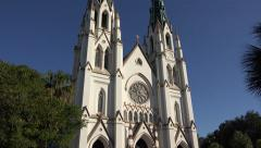 St john the baptist cathedral, savannah, ga, usa Stock Footage