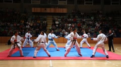 Karate Demonstration and Exhibition HD Stock Footage