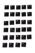 Alphabet notebook keys Stock Photos