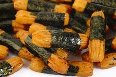 nori seaweed rice cracker - stock photo