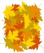 Autumnal concept background Stock Illustration