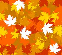 Autumnal concept background Stock Illustration
