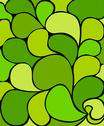 Stock Illustration of Green abstract retro composition