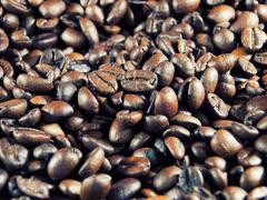roasted coffee - stock photo
