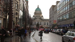 Belfast City Hall during December Stock Footage