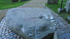 Saint Patrick's gravestone Stock Footage