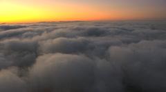 Aerial California USA sky sunset cloudscape cumulus Stock Footage