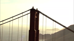 Aerial Highway 101 Golden Gate Bridge travel USA - stock footage