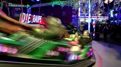 Germany Europe Hamburg 012 fast merry go round on winter fair Stock Footage