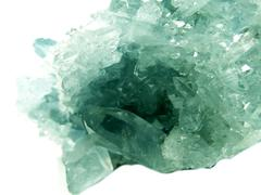Aquamarine geode geological crystals Stock Photos