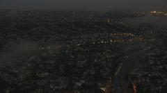 Aerial California USA sky cloudscape cumulus Stock Footage