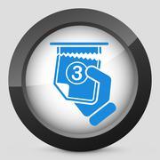 Ticket queue icon - stock illustration