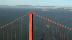 Aerial Highway 101 Golden Gate Bridge travel USA - stock footage