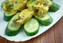 Curry de porc aux concombres Stock Photos