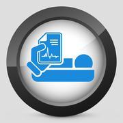Hospital room - stock illustration