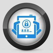 Tablet password Stock Illustration
