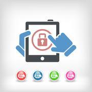Tablet password - stock illustration