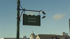 alamo square sign, San Francisco - stock footage