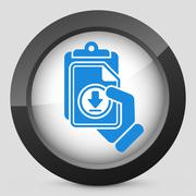 Stock Illustration of Download link button