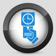 Clocking-in card icon Stock Illustration