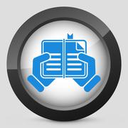 Book read icon - stock illustration