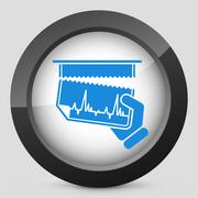 Cardiac test document - stock illustration