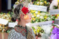 Bangkok thai dancing funeral - stock photo