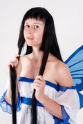 pixie girl - stock photo