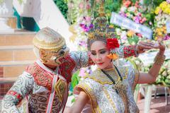 Thai dancing funeral Stock Photos