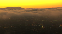 Aerials California USA cloud sunset city cumulus - stock footage