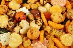 Mix nut and cracker Stock Photos