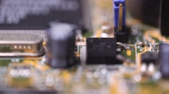 Mother board flyover Stock Footage