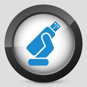 Usb memory icon Stock Illustration