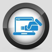 Usb computer icon Stock Illustration