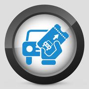 Card car icon - stock illustration