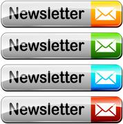 Four newsletter buttons Stock Illustration
